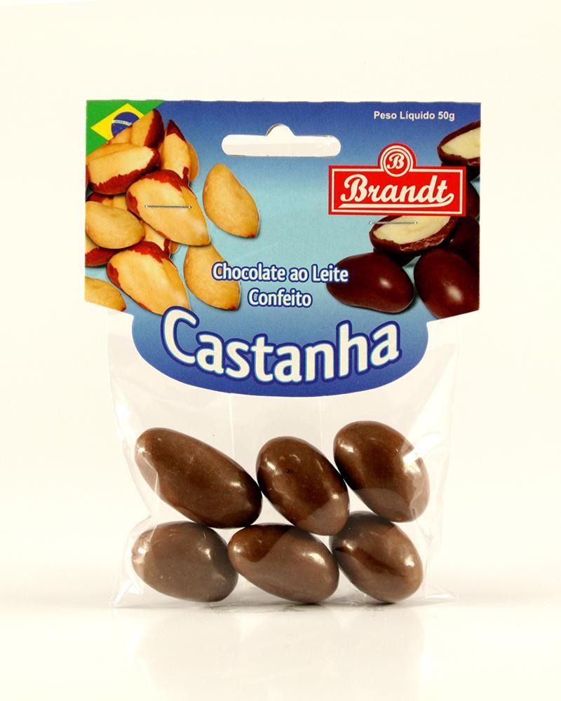 Confeito Castanha do Pará Chocolate ao Leite 50g
