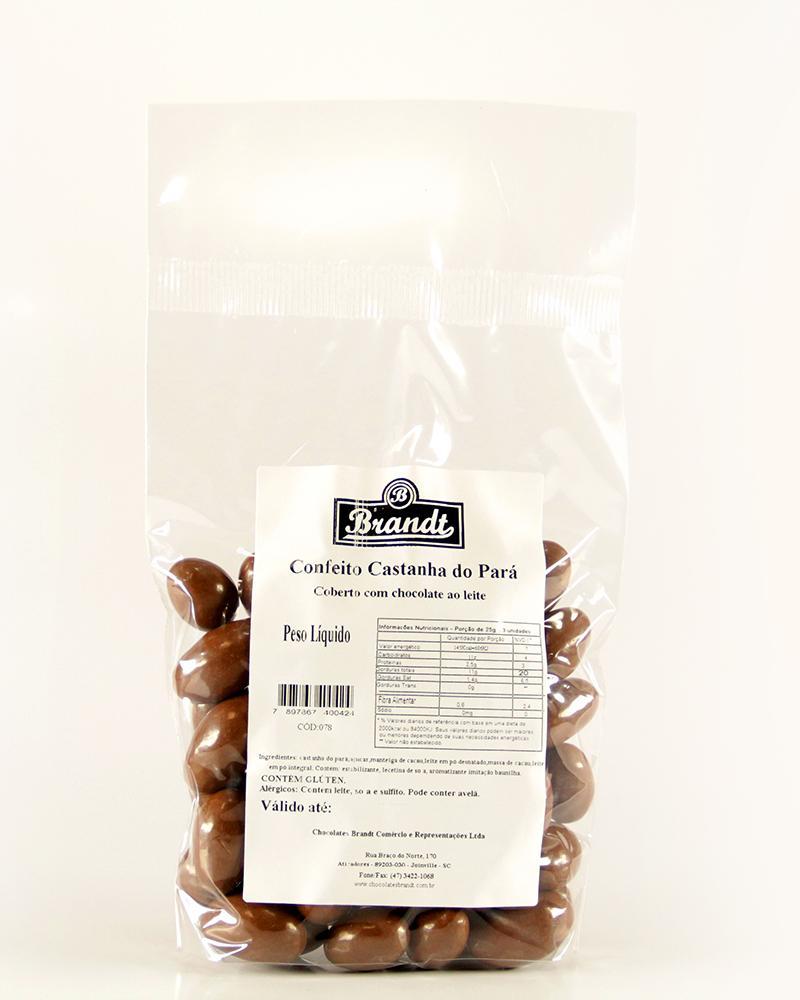 Confeito Castanha do Pará Chocolate ao Leite 500g