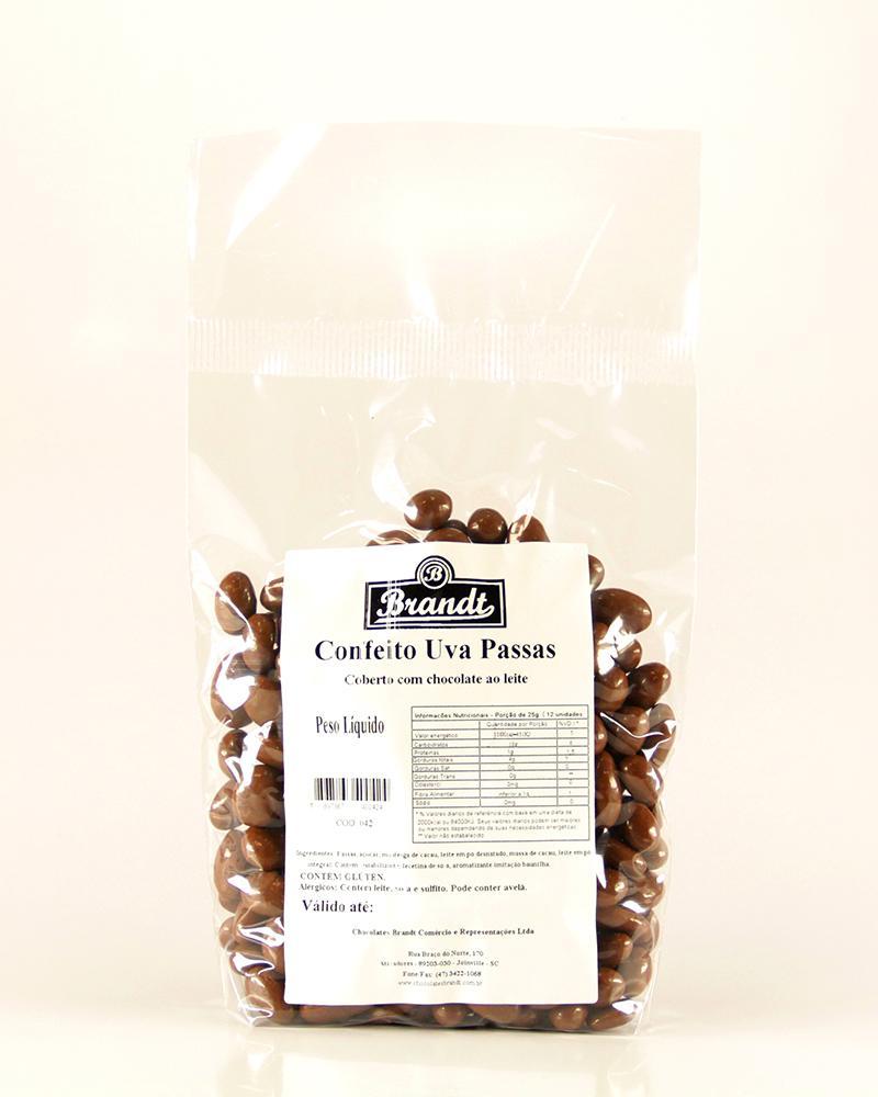 Confeito Uva Passas Chocolate ao Leite 500g