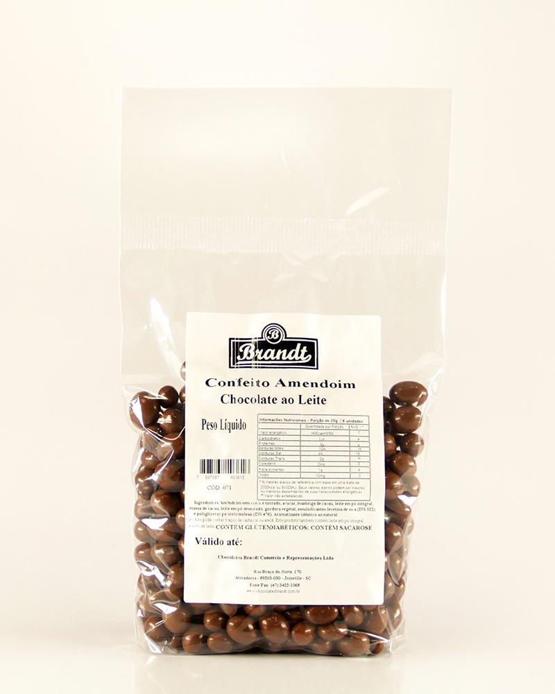 Confeito Amendoim Chocolate ao Leite 1kg